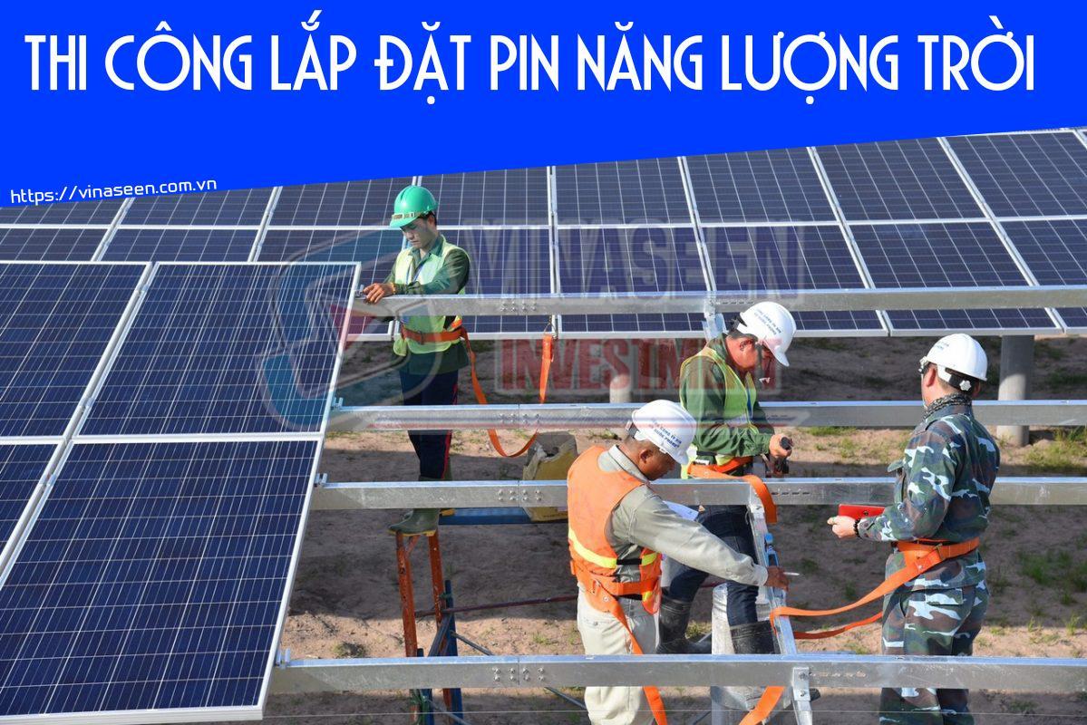 Thi công lắp đặt pin mặt trời