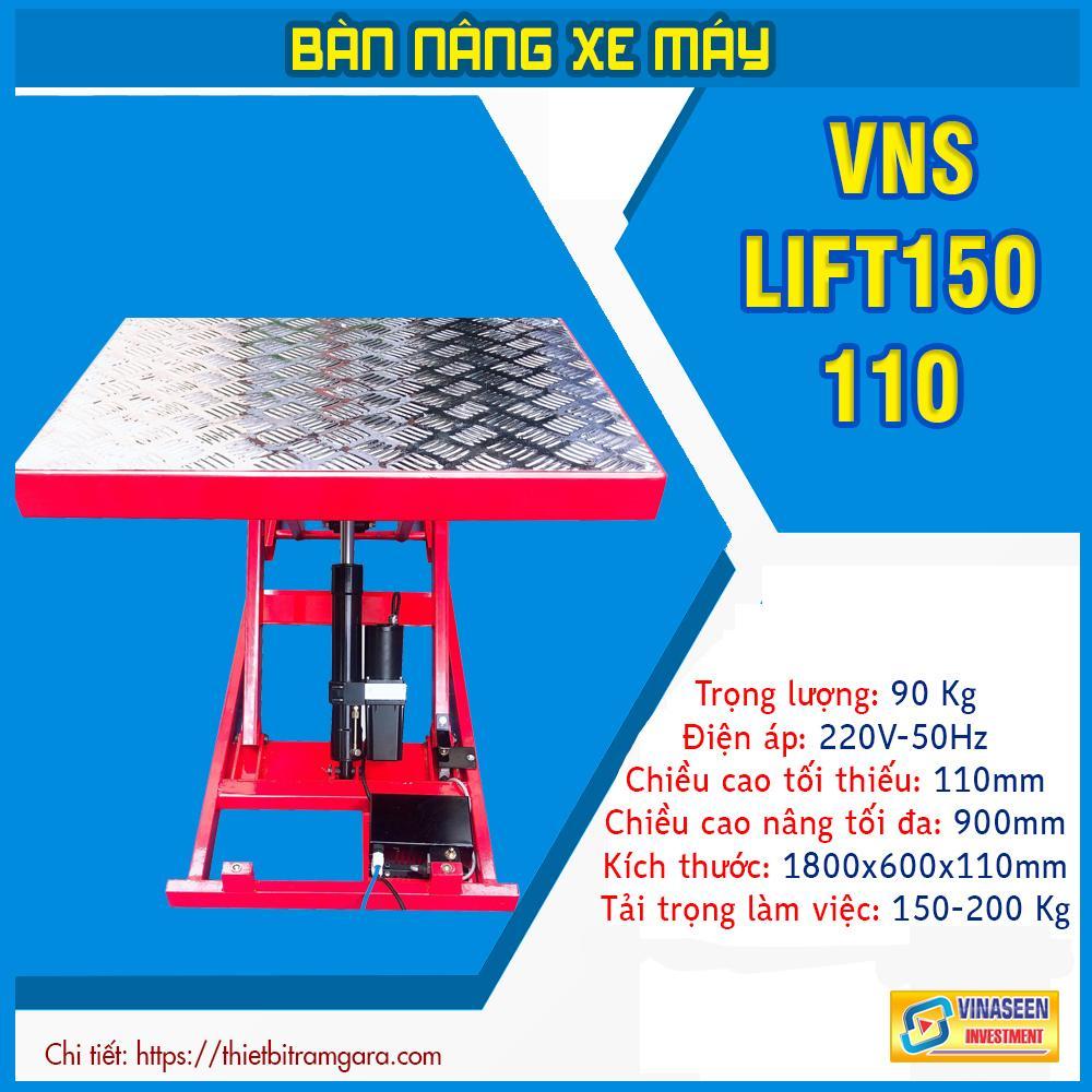 Bàn nâng xe máy điện Thủy lực - VNS - LIFT150 - N (Đặt nổi)