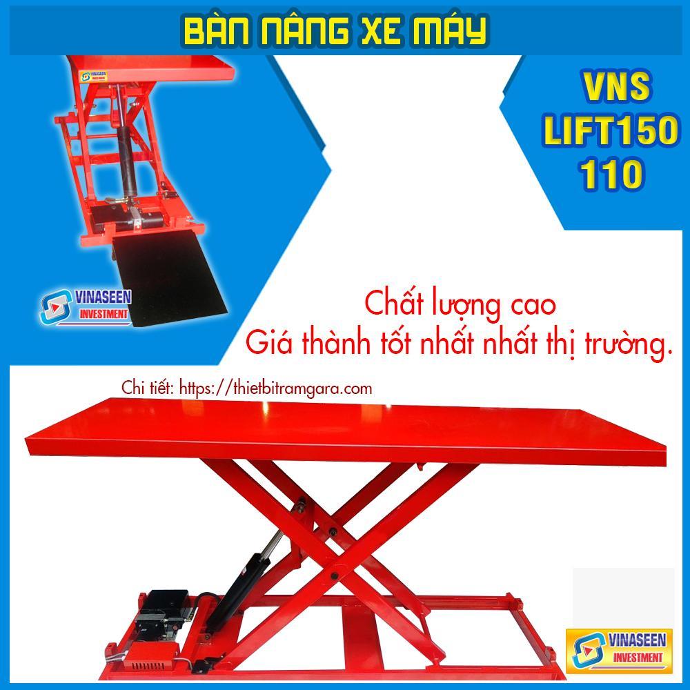 Bàn nâng xe máy điện Thủy lực - VNS - LIFT150 - C (Đặt chìm)